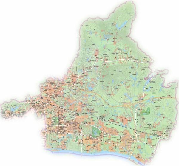 广州白云区地图